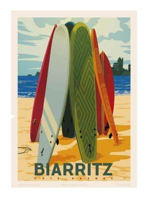 Biarritz - Planches de surf